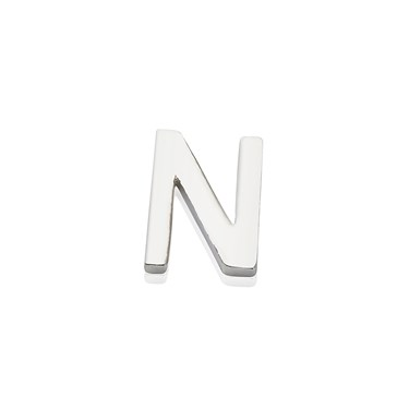 Storie Silver Letter N Charm  - Click to view larger image