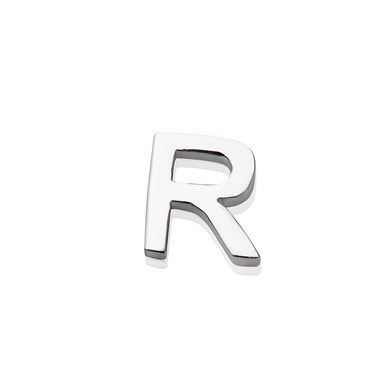 Storie Silver Letter R Charm  - Click to view larger image