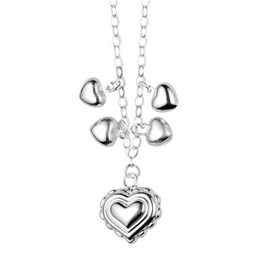 Argento Silver Heart Necklace