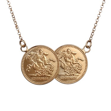 Argento Double Gold Coin Necklace