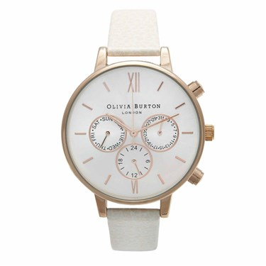 Olivia Burton Chronograph Mink & Rose Gold Watch  - Click to view larger image