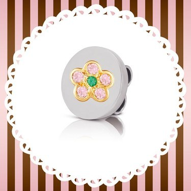 Nomination My Bonbons Flower Charm  - Click to view larger image