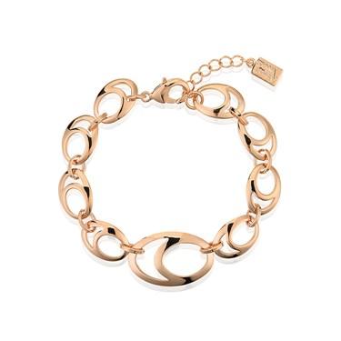August Woods Rose Gold Oval Link Bracelet