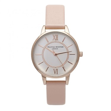 Olivia Burton Wonderland Dusty Pink Mix Watch  - Click to view larger image