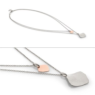 Nomination Ninfea Silver and Rose Gold Double Necklace  - Click to view larger image