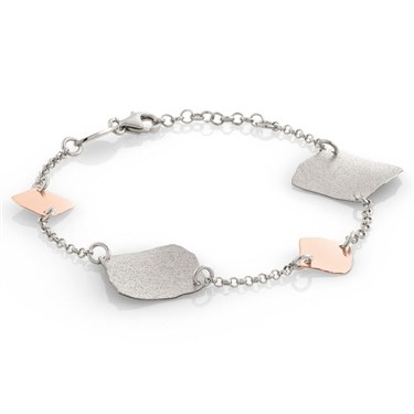 Nomination Ninfea Silver and Rose Gold Bracelet