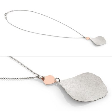 Nomination Ninfea Silver and Rose Gold Necklace  - Click to view larger image