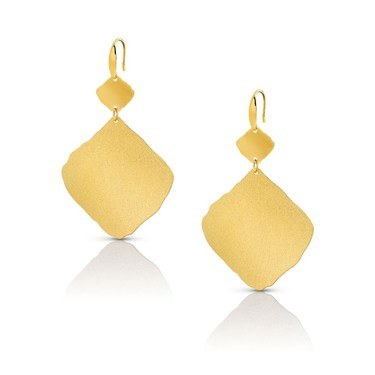 Nomination Ninfea Large Gold Earrings  - Click to view larger image