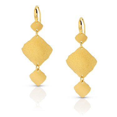 Nomination Ninfea Triple Gold Earrings  - Click to view larger image