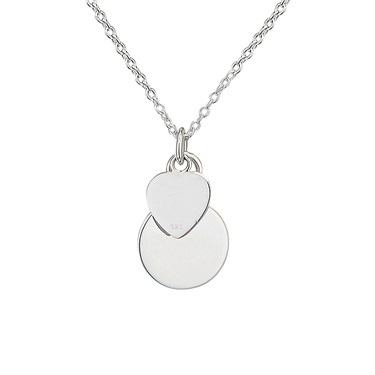 Argento Heart and Plate Necklace   - Click to view larger image