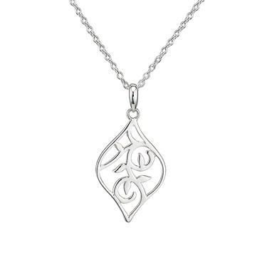 Argento Leaf Design Necklace