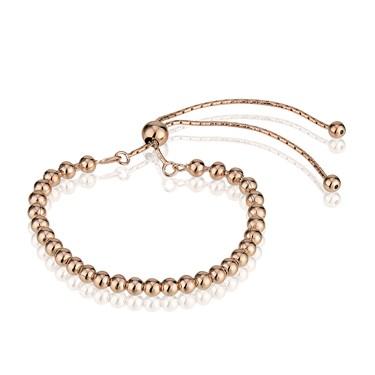 Argento Rose Gold Beaded Bracelet