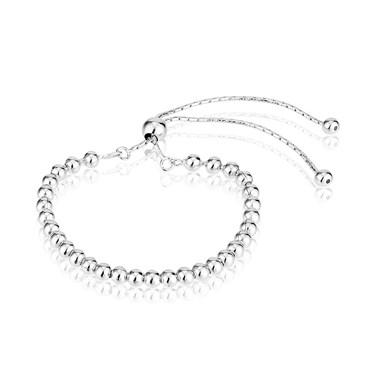 Argento Silver Beaded Bracelet