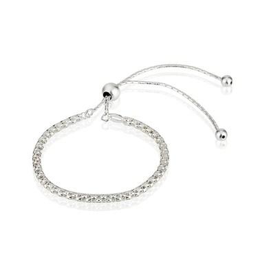 Argento Silver Mesh Pull Friendship Bracelet