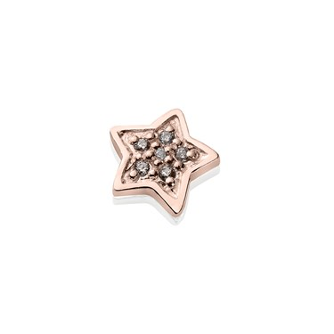 Storie Rose Gold CZ Star Charm  - Click to view larger image