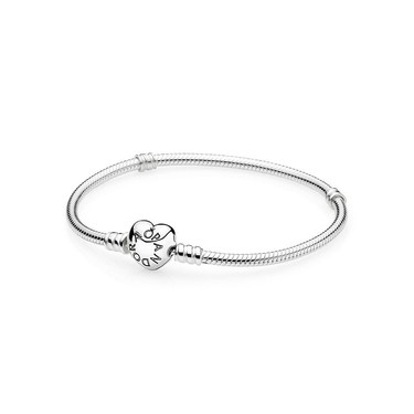 PANDORA Moments Silver Heart Clasp Bracelet  - Click to view larger image
