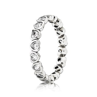 Pandora Sparkling Heart Ring  - Click to view larger image