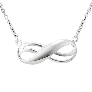 Argento Double Infinity Necklace  - Click to view larger image