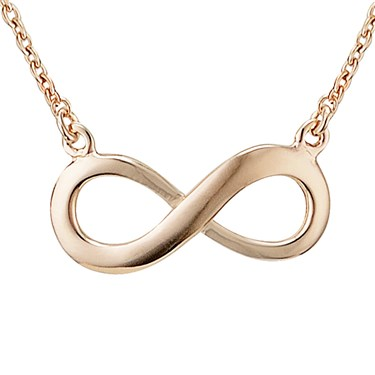 Argento Rose Gold Infinity Necklace  - Click to view larger image
