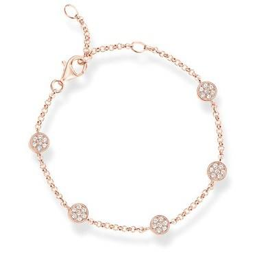 Thomas Sabo Rose Gold Sparkling Circles Bracelet  - Click to view larger image