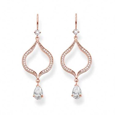 Thomas Sabo Rose Gold Purity of Lotos Earrings  - Click to view larger image