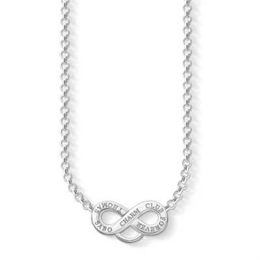 Thomas Sabo Silver Charm Club Necklace  - Click to view larger image