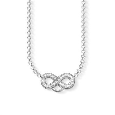 Thomas Sabo Silver Cz Charm Club Necklace  - Click to view larger image