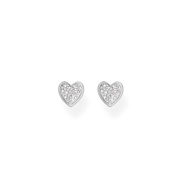 Thomas Sabo Silver Heart Stud Earrings Click To View Larger Image