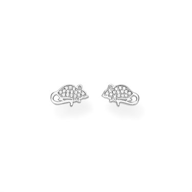 Thomas Sabo Silver Mouse Stud Earrings   - Click to view larger image