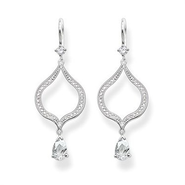 Thomas Sabo Silver Purity of Lotos Earrings  - Click to view larger image