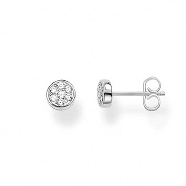 Thomas Sabo Silver Sparkling Circles Stud Earrings  - Click to view larger image