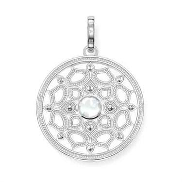 Thomas Sabo Milky Quartz Silver Pendant  - Click to view larger image