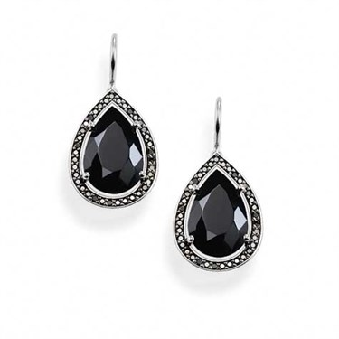 Thomas Sabo Silver Onyx Drop Earrings   - Click to view larger image