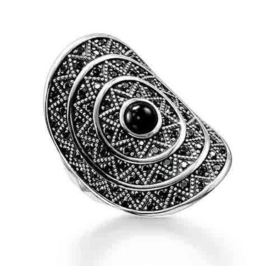 Thomas Sabo Silver Zig Zag Cocktail Ring   - Click to view larger image