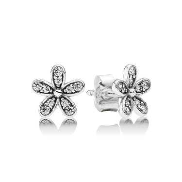 Pandora Dazzling Daisy Silver Stud Earrings  - Click to view larger image