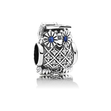 Pandora Owl Graduate Charm  - Click to view larger image