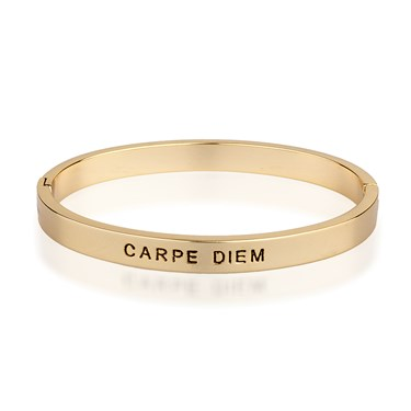 August Woods Gold Carpe Diem Bangle  - Click to view larger image