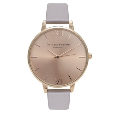Olivia Burton Big Dial Lilac & Rose Gold Watch  - Click to view larger image