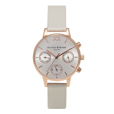 Olivia Burton Midi Chrono Detail Mink & Rose Gold Watch  - Click to view larger image