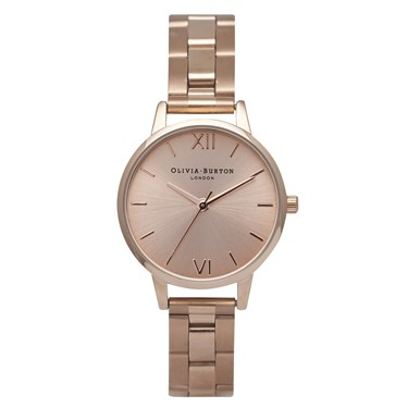 Olivia Burton Midi Dial Rose Gold Bracelet Watch  - Click to view larger image