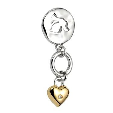 Argento Lovebird Charm Necklace
