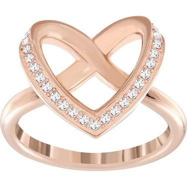 Swarovski Rose Gold Cupidon Ring  - Click to view larger image