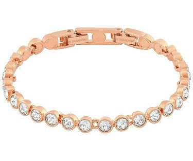Swarovski Tennis Bracelet Rose Gold Crystal Click To View Larger Image