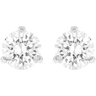 Swarovski Solitaire Crystal Earrings  - Click to view larger image