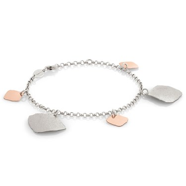 Nomination Ninfea Silver and Rose Gold Pendants Bracelet  - Click to view larger image