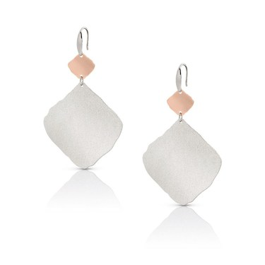 Nomination Ninfea Large Silver and Rose Gold Earrings  - Click to view larger image