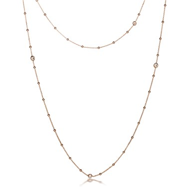 Nomination Bella Long Rose Gold CZ Necklace