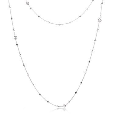 Nomination Bella Long Silver CZ Necklace