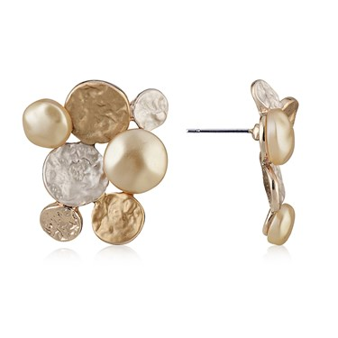 August Woods Rose Gold Circle Cluster Earrings