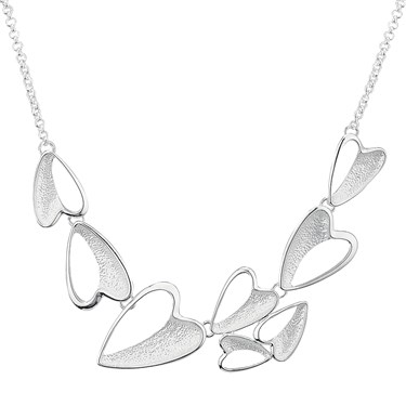 August Woods Frosted Heart Necklace